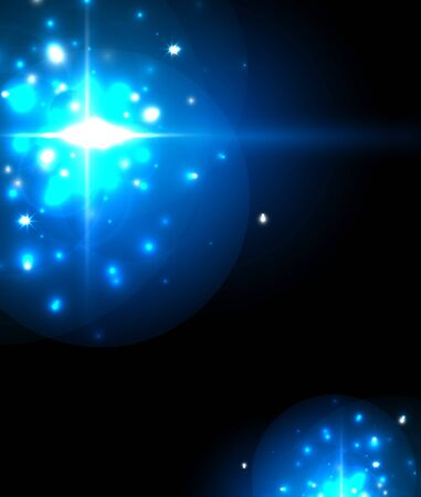 Abstract blue neon star background for celebration design. Luxury festive background.  イラスト・ベクター素材