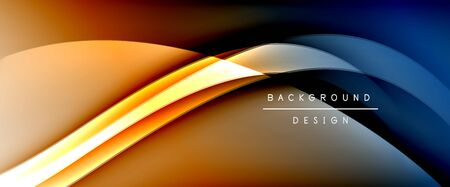 Dynamic trendy fluid color gradient abstract background with flowing wave lines. Vector Illustration For Wallpaper, Banner, Background, Card, Book Illustration, landing page, cover, placards, poster, banner, flyer design