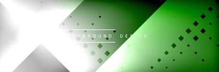 Abstract background - squares and lines composition created with lights and shadows. Technology or business digital template Vetores