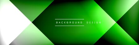 Abstract background - squares and lines composition created with lights and shadows. Technology or business digital template. Trendy simple fluid color gradient abstract background with dynamic straight shadow lines effect. Vector Illustration For Wallpaper, Banner, Background, Card, Book Illustration, landing page