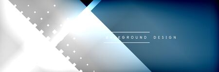 Abstract background - squares and lines composition created with lights and shadows. Technology or business digital template. Vectores