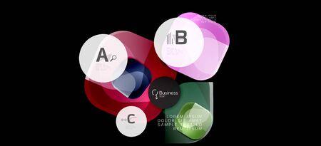 Info graphics circles background. Success icon symbol. Vector info graphic design. Creative vector element. Decoration element