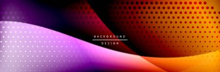 Flowing waves with 3d shadow effects and fluid gradients. Dynamic trendy abstract background. Vector Illustration For Wallpaper, Banner, Background, Card, Book, Illustration, landing, page, cover, placard, poster, banner, flyer, design