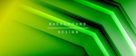 Arrow lines, technology digital template with shadows and lights on gradient background. Trendy simple fluid color gradient abstract background with dynamic straight shadow lines effect Zdjęcie Seryjne - 138008570