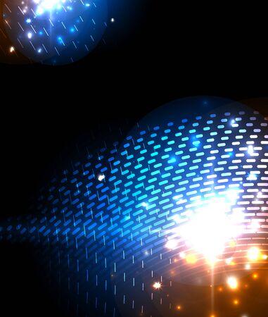 Abstract blue neon star background for celebration design. Luxury festive background. Illustration