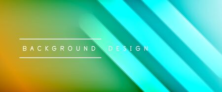 Dynamic trendy fluid color gradient abstract background with flowing wave lines. Vector Illustration
