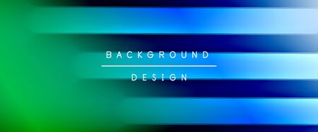 Dynamic trendy fluid color gradient abstract background with flowing wave lines. Vector Illustration Banco de Imagens - 138274136