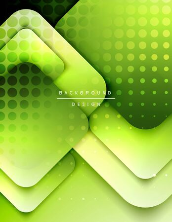 Rounded squares shapes composition geometric abstract background. 3D shadow effects and fluid gradients. Modern overlapping forms. Vector Illustration For Wallpaper, Banner, Background, Card, Book, Illustration, landing page, cover, placard, poster, banner, flyer, design Vektoros illusztráció