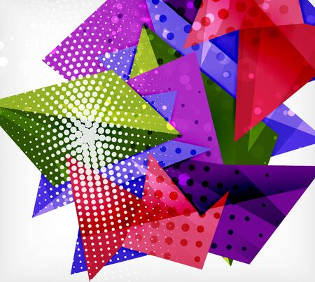 Modern origami card. Modern origami design element. Color geometric pattern. Abstract low-poly background. Presentation template. Abstract decorative geometric composition. Stock fotó - 138434747