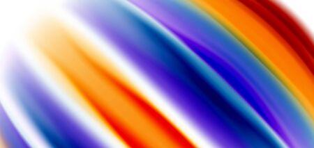Silk smooth lines on white, liquid fluid color waves. Vector Illustrations For Wallpaper, Banner, Background, Card, Book, Illustration, landing page, cover, placard, poster, banner, flyer, design Ilustração