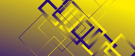 Abstract background with simple square or rectangle geometrical shapes. Geometric template with fluid gradients. Line design, technology hi-tech digital illustrations. Vector Illustration For Wallpaper, Banner, Background, Card, Book Illustration, landing page