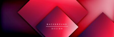 Square shapes composition geometric abstract background. 3D shadow effects and fluid gradients. Modern overlapping forms. Vector Illustration For Wallpaper, Banner, Background, Card, Book, Illustration, landing page, cover, placard, poster, banner, flyer, design
