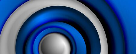 Vector 3d style abstract swirl circles, modern techno digital trendy abstract background. Vector Illustration For Wallpaper, Banner, Background, Card, Book Illustration, landing page 일러스트