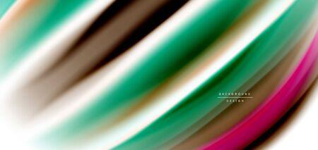 Silk smooth lines on white, liquid fluid color waves. Vector Illustrations For Wallpaper, Banner, Background, Card, Book, Illustration, landing page, cover, placard, poster, banner, flyer, design Ilustrace