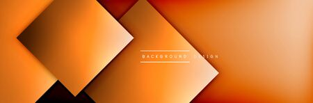 Square shapes composition geometric abstract background. 3D shadow effects and fluid gradients. Modern overlapping forms. Vector Illustration For Wallpaper, Banner, Background, Card, Book, Illustration, landing page, cover, placard, poster, banner, flyer, design Stok Fotoğraf - 138738762
