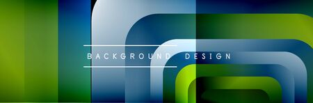 Round squares shapes composition geometric abstract background. Vector Illustration Stok Fotoğraf - 138738791