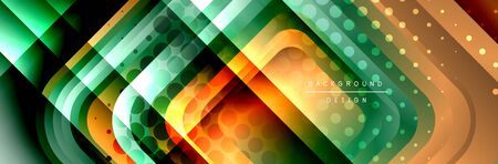 Round squares shapes composition geometric abstract background. Vector Illustration Stok Fotoğraf - 138738792