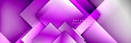 Square shapes composition geometric abstract background. 3D shadow effects and fluid gradients. Modern overlapping forms Stok Fotoğraf - 138738928