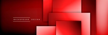 Square shapes composition geometric abstract background. 3D shadow effects and fluid gradients. Modern overlapping forms Stok Fotoğraf - 138738951