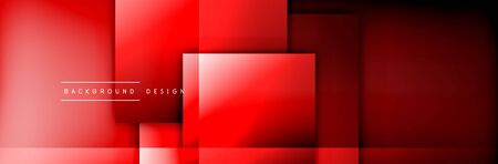 Square shapes composition geometric abstract background. 3D shadow effects and fluid gradients. Modern overlapping forms Stok Fotoğraf - 138738998