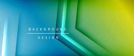 Arrow lines, technology digital template with shadows and lights on gradient background. Trendy simple fluid color gradient abstract background with dynamic straight shadow lines effect. Vector Illustration For Wallpaper, Banner, Background, Card, Book Illustration, landing page