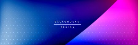 Flowing waves with 3d shadow effects and fluid gradients. Dynamic trendy abstract background. Vector Illustration Stock Illustratie