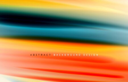 Abstract background - fluid color gradient waves, with dynamic motion line effect.