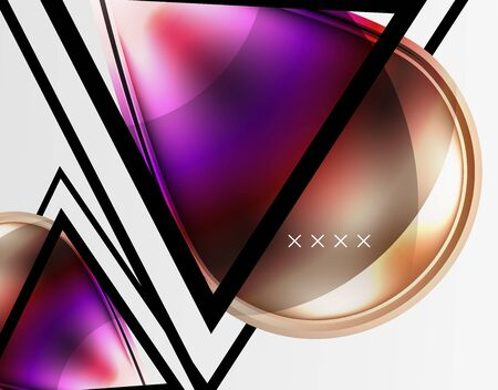 Abstract background - glossy glass bubbles, abstract sphere shapes, geometric dynamic composition with copyspace.