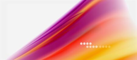 Wave lines abstract background, smooth silk design with rainbow style colors. Liquid fluid color waves. Vector Illustration