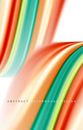 Abstract background - fluid color gradient waves, with dynamic motion line effect. Vector Illustration For Wallpaper, Banner, Background, Card, Book Illustration, landing page Ilustração
