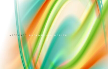 Abstract background - fluid color gradient waves, with dynamic motion line effect. Vector Illustration For Wallpaper, Banner, Background, Card, Book Illustration, landing page Illustration