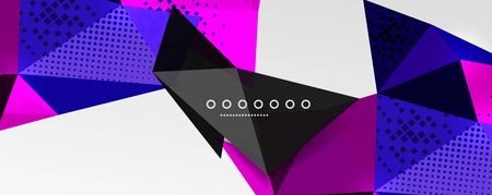 Abstract background - trendy low poly triangle shapes polygonal pattern, geometric dynamic composition with copyspace. Vector Illustration For Wallpaper, Banner, Background, Card, Book Illustration, landing page Illustration