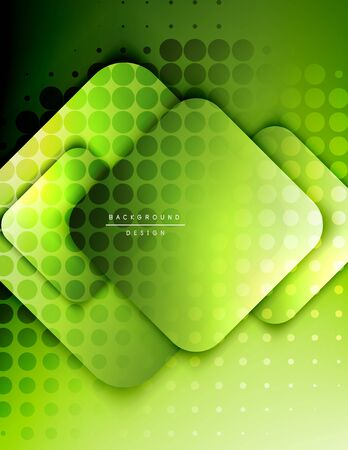 Rounded squares shapes composition geometric abstract background. 3D shadow effects and fluid gradients. Modern overlapping forms. Vektoros illusztráció