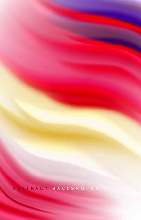 Abstract background - fluid color gradient waves, with dynamic motion line effect. Vector Illustration For Wallpaper, Banner, Background, Card, Book Illustration, landing page Stock Illustratie