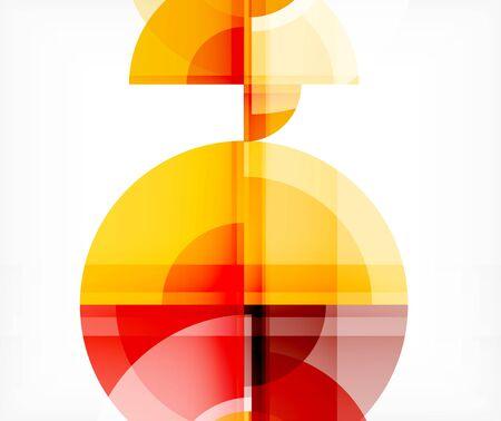 L'arrière-plan abstrait, le cercle et le triangle conçoivent des formes rondes qui se chevauchent. Modèle tendance géométrique. Illustration vectorielle pour papier peint, bannière, fond, carte, illustration de livre, page de destination Vecteurs