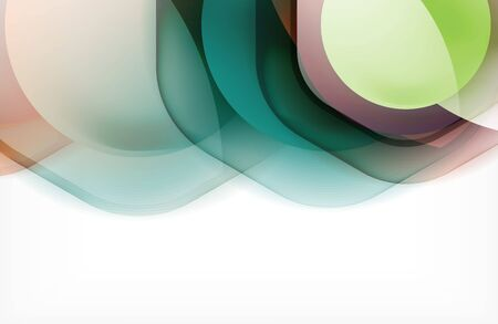 Abstract background - glass shiny transprent hexagon shapes overlapping eath other. Vector Illustration For Wallpaper, Banner, Background, Card, Book Illustration, landing page
