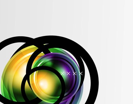Abstract background - glossy glass bubbles, abstract sphere shapes. Vector Illustration For Wallpaper, Banner, Background, Card, Book Illustration, landing page