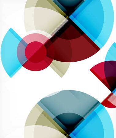 Abstract background, circle and triangle design round shapes overlapping. Geometric trendy template. Vector Illustration For Wallpaper, Banner, Background, Card, Book Illustration, landing page