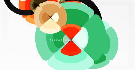 Abstract background, trendy color circles geometrical composition. Vector Illustration For Wallpaper, Banner, Background, Card, Book Illustration, landing page Ilustracja