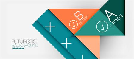 Abstract background, geometric business multicolored paper infographic - triangle frames for text, icons or graphics on light background with copyspace. Vector Illustration For Wallpaper, Banner 版權商用圖片 - 142083976
