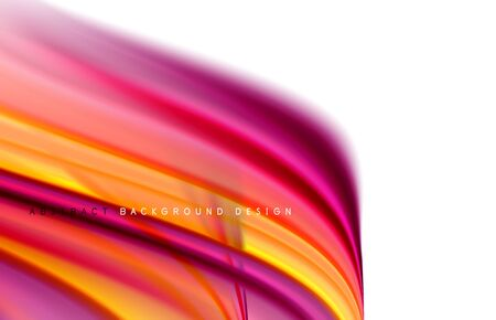 Abstract background - fluid color gradient waves, with dynamic motion line effect. Vector Illustration For Wallpaper, Banner, Background, Card, Book Illustration, landing page  イラスト・ベクター素材