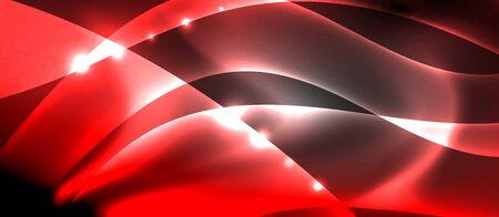 Abstract background. Shiny design neon waves with light effects, techno trendy design. Vector Illustration For Wallpaper, Banner, Background, Card, Book Illustration, landing page Vektorgrafik