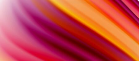 Wave lines abstract  background, smooth silk design with rainbow style colors.