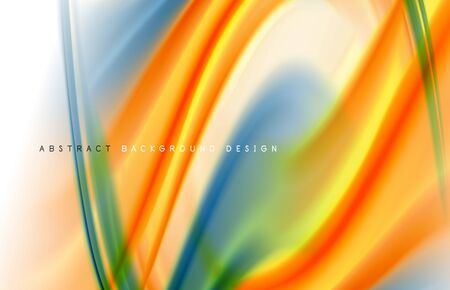 Abstract fluid color gradient waves, with dynamic motion line effect.