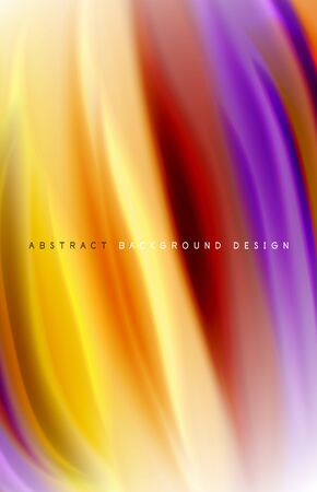 Abstract background - fluid color gradient waves, with dynamic motion line effect. Vector Illustration For Wallpaper, Banner, Background, Card, Book Illustration, landing page