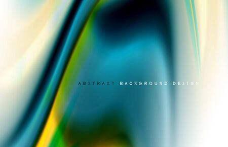 Abstract background - fluid color gradient waves, with dynamic motion line effect. Vector Illustration For Wallpaper, Banner, Background, Card, Book Illustration, landing page 向量圖像