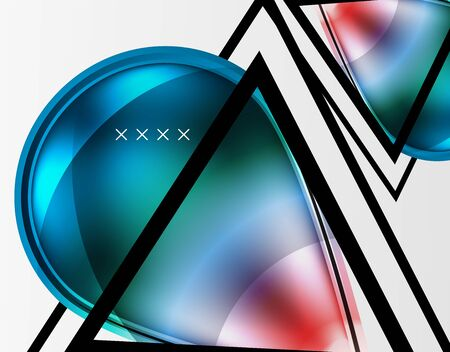 Abstract background - glossy glass bubbles, abstract sphere shapes, geometric dynamic composition with copyspace. Vector Illustration For Wallpaper, Banner, Background, Card, Book Illustration, landin