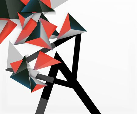 Abstract background, mosaic 3d triangles composition, low poly style design. Vector Illustration For Wallpaper, Banner, Background, Card, Book Illustration, landing page