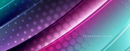 Shining glass abstract wave background. Dynamic motion line effect. Vector Illustration For Wallpaper, Banner, Background, Card, Book Illustration, landing page