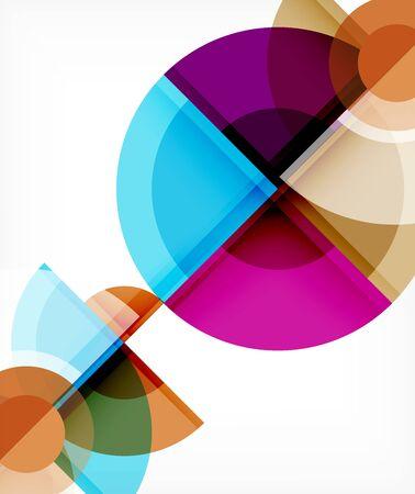 El fondo abstracto, el círculo y el triángulo diseñan formas redondas que se superponen entre sí. Plantilla de moda geométrica. Ilustración vectorial para papel tapiz, pancarta, fondo, tarjeta, ilustración de libros, página de destino Ilustración de vector